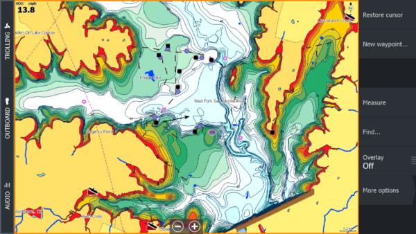 Карты глубин С-Map и Navionics