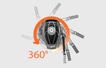 Поворот мотора на 360°